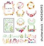wedding graphic set  flowers ... | Shutterstock .eps vector #404340493