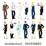 set of professional man and... | Shutterstock .eps vector #404358883