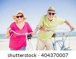 senior couple going for a bike... | Shutterstock . vector #404370007