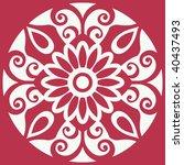 filigree floral design element  ...   Shutterstock .eps vector #40437493