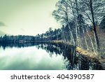 beautiful lake landscape with... | Shutterstock . vector #404390587