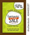 fantastic sale flyer  sale... | Shutterstock .eps vector #404403157