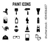 painting icons | Shutterstock .eps vector #404406607