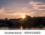 prague castle  silhouette at...   Shutterstock . vector #404414683