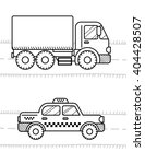 cars and vehicles coloring book ... | Shutterstock .eps vector #404428507