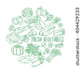 set hand draw vegetables .... | Shutterstock .eps vector #404429233