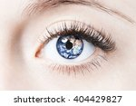 close up image of human eye... | Shutterstock . vector #404429827