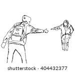sketch of people  vector... | Shutterstock .eps vector #404432377