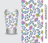 coffee cup with patterns... | Shutterstock .eps vector #404435227