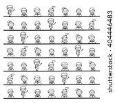 set of hand drawing cartoon...   Shutterstock .eps vector #404446483