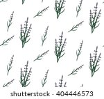 hand drawn seamless lavender... | Shutterstock .eps vector #404446573