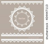 lacy round frame and borders....