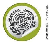 green circle satisfaction 100 ... | Shutterstock . vector #404460103