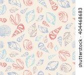 vector sea shells seamless... | Shutterstock .eps vector #404468683