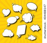 comic speech bubbles retro... | Shutterstock .eps vector #404488147