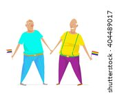 gay couple in love. stock... | Shutterstock .eps vector #404489017