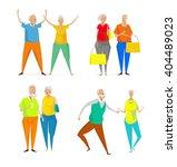 elderly couple vector...   Shutterstock .eps vector #404489023
