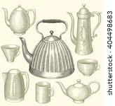 tea and coffee. design set....   Shutterstock .eps vector #404498683