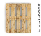 Wooden Pallet. Isolated On...