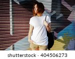 young attractive girl with a... | Shutterstock . vector #404506273