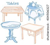 set of different tables. set of ... | Shutterstock .eps vector #404506327
