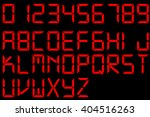 red digital font   | Shutterstock .eps vector #404516263