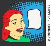 retro girl  pop art style.... | Shutterstock .eps vector #404522983