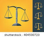 icon scale flat  balance symbol ... | Shutterstock .eps vector #404530723
