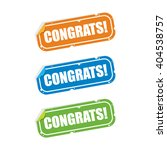 congrats sticker labels | Shutterstock .eps vector #404538757