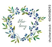blueberry frame with leaves  ... | Shutterstock .eps vector #404548093