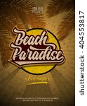 Beach Paradise Party Flyer...