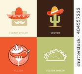 vector set of abstract logo... | Shutterstock .eps vector #404557333