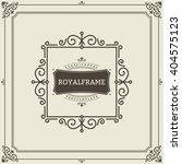vector frame template. vintage... | Shutterstock .eps vector #404575123