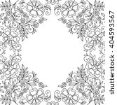flower design frame. invitation ... | Shutterstock .eps vector #404593567