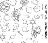 Passover Symbols Seamless...