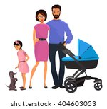 vector family portrait  | Shutterstock .eps vector #404603053