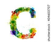 color paint splashes. gradient... | Shutterstock .eps vector #404603707
