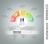 design circle infographic... | Shutterstock .eps vector #404606113