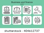 business and finance icons. set ... | Shutterstock .eps vector #404612737