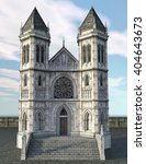 Gothic Ancient Castle Isolated...