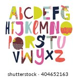 sketchy abstract abc for your... | Shutterstock .eps vector #404652163