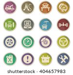 car service web icons for user... | Shutterstock .eps vector #404657983