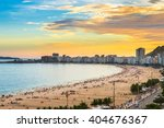sunset view of copacabana beach ... | Shutterstock . vector #404676367