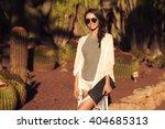 stylish trendy beautiful girl... | Shutterstock . vector #404685313
