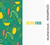 eco food design template with... | Shutterstock . vector #404689633