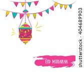 colorful ramadan kareem... | Shutterstock . vector #404689903