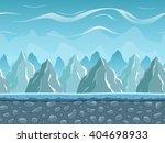 seamless cartoon landscape with ...