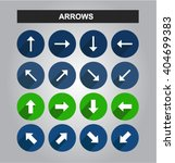 arrow icons set. flat arrows... | Shutterstock .eps vector #404699383