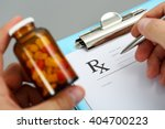 male medicine doctor hand hold... | Shutterstock . vector #404700223