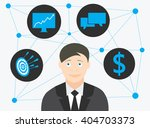 businessman thinking about... | Shutterstock .eps vector #404703373